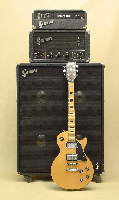 Blonde Garnet LP shown with early '70's Standalone Reverb (G15R) BTO Amplifier Head (L260D) and BTO 4x12 Cab (BTO412)